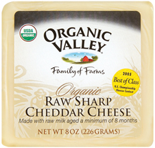 Cheese Raw Sharp Cheddar