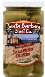 Olives stuffed with Jalapeno and cheese